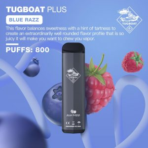 TUGBOAT PLUS BLUE RAZZ- DISPOSABLE PUFFS: 800 IN DUBAI/UAE
