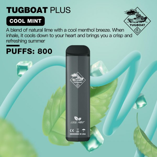 TUGBOAT PLUS COOL MINT- DISPOSABLE PUFFS: 800 IN DUBAI/UAE