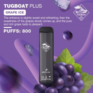 TUGBOAT PLUS GRAPE ICE- DISPOSABLE PUFFS: 800 IN DUBAI/UAE