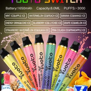 Yuoto Switch Disposable Vape Device 3000 Puffs 1650mAh